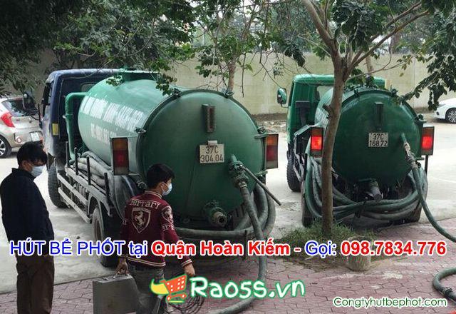 Hút bể phốt giá rẻ tại quận Hoàn kiếm Hà Nội