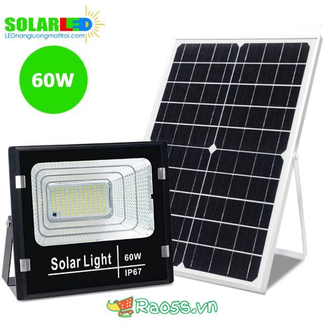 Đèn LED năng lượng mặt trời 60W chuẩn IP67 & Pin Mono