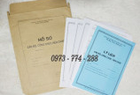 Bán vỏ túi hồ sơ cán bộ công chức viên chức màu nâu, trắng tt07