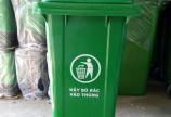 Thùng rác nhựa 120L nắp đẩy