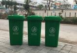 Thùng rác nhựa 100 lít có gân