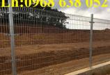 Hàng rào mạ kẽm nhúng nóng hoặc sơn tĩnh điện