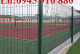 Lưới hàng rào D5a150x150 chấn sóng ở giữa, 2 đầu thẳng