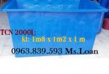Thùng nhựa nuôi cá cảnh 2000lit / Lh 0963.839.593 Ms.Loan