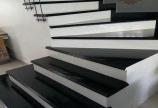 Mẫu cầu thang đá đẹp -đá hoa cương đen Ấn Độ -Cầu thang đá đen Ấn Độ